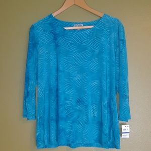 Woman's JM collection Tie Dyed Gel Dot NWT size XL